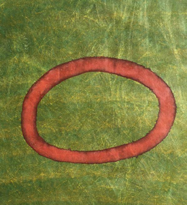z.t. kalligrafie inkt op tyvek, 30 cm x 30 cm, 2017
