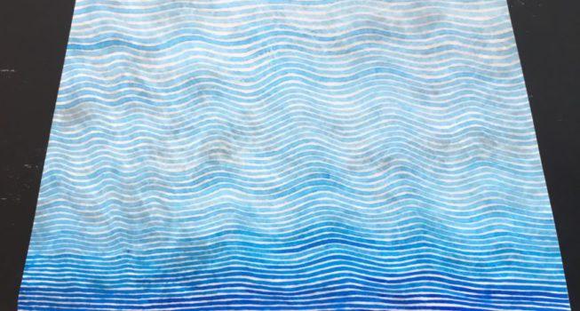 z.t., inkt in epoxy op alu, 61 cm (basis) x 50 cm (h), 2017