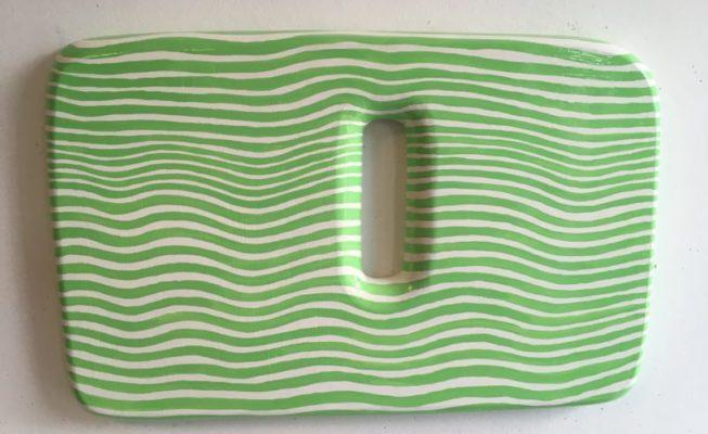 z.t., lakverf op hout, 57 cm x 37 cm (h), 2018