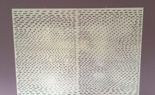 z.t., acrylverf op plexiglas - geintegreerd muurvlak, 2018