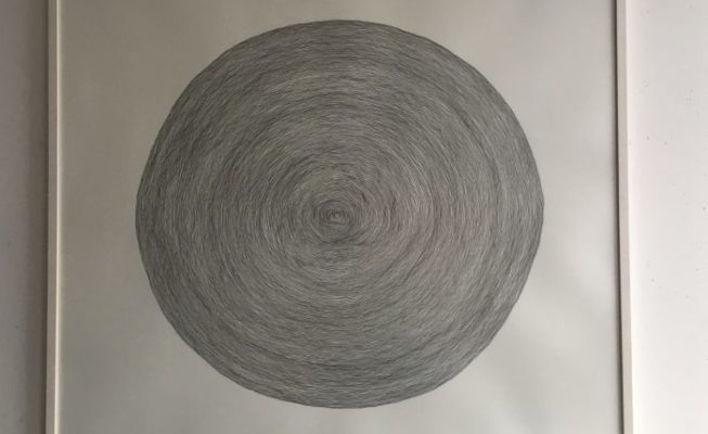 z.t., potlood op papier (1 lijn), 108 cm x 103 cm (h), 2019