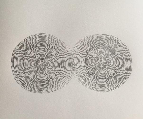 z.t., potlood op papier, 44 cm x 32 cm (h), 2019