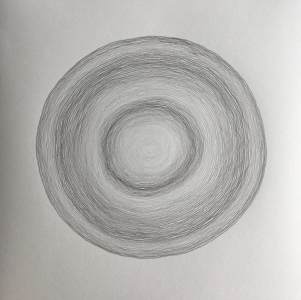 z.t., potlood op papier, 44 cm x 44 cm, 2019