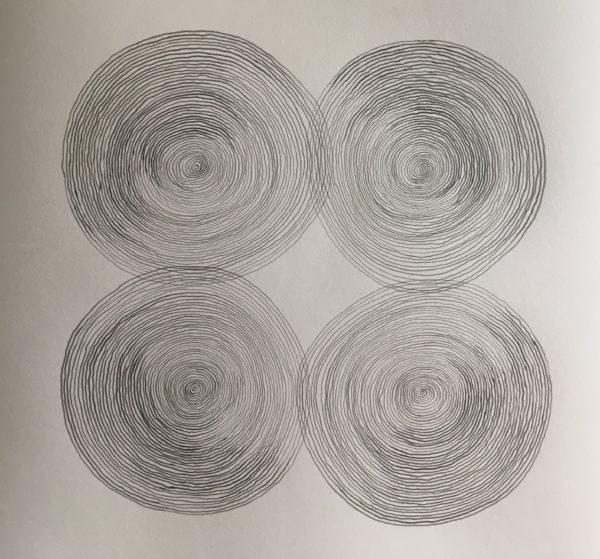 z.t., potlood op papier, 50 cm x 43 cm (h), 2019
