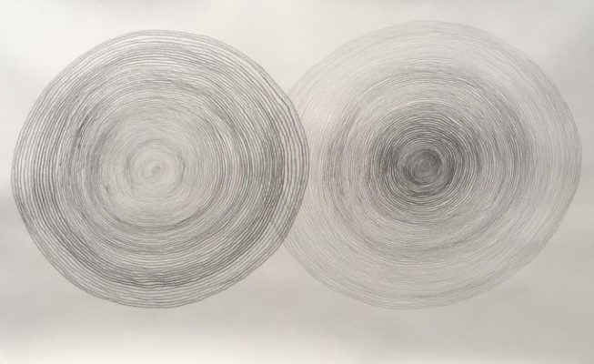 z.t., potlood op papier, 90 cm x 50 cm (h), 2019